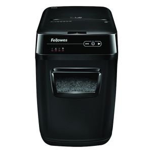 Уничтожитель Fellowes AutoMax 200C, 200 листов, фрагменты 4x38 мм, корзина 32 л