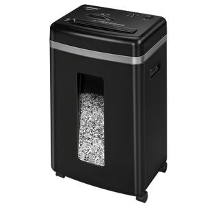 Знищувач Fellowes Microshred 450M, 9 аркушів, фрагменти 2х12 мм, кошик 22 л.
