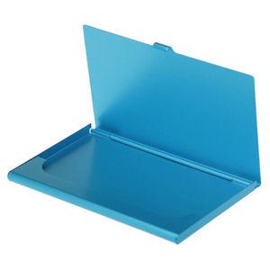 Купить Визитницы, Карманная визитница из алюминия, синяя