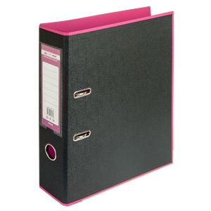 Купить Папки-регистраторы, Регистратор BUROMAX, А4, 70 мм, PP, розовый/черный