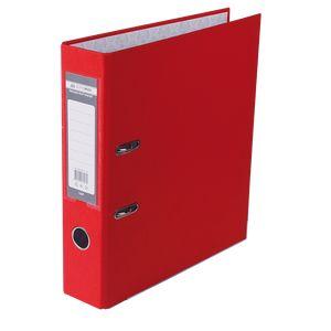 Купить Папки-регистраторы, Регистратор односторонний А4 LUX, JOBMAX, ширина торца 70мм, красный