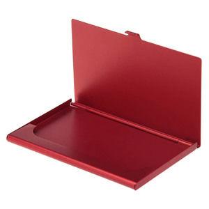 Купить Визитницы, Карманная визитница из алюминия, красная