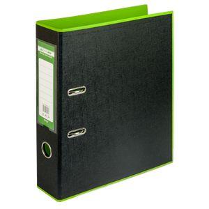 Купить Папки-регистраторы, Регистратор BUROMAX, А4, 70 мм, PP, салатовый/черный