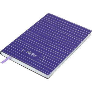 Купить Бизнес-тетради, блокноты, Блокнот деловой RELAX А5, 96л., линия, обложка искусственная кожа, фиолетовый