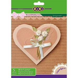 Купить Цветная бумага и картон, Основа для открыток из гофрокартона А5, 5 цветов: 5 листов
