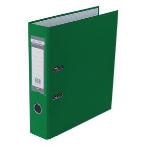 Купить Папки-регистраторы, Регистратор односторонний А4 LUX, JOBMAX, ширина торца 70мм, зеленый