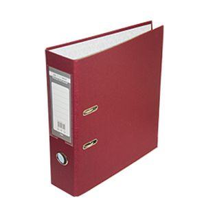Купить Папки-регистраторы, Регистратор двухсторонний ELITE BUROMAX, А4, ширина торца 70 мм, бордовый