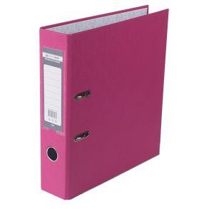 Купить Папки-регистраторы, Регистратор односторонний А4 LUX, JOBMAX, ширина торца 70мм, розовый