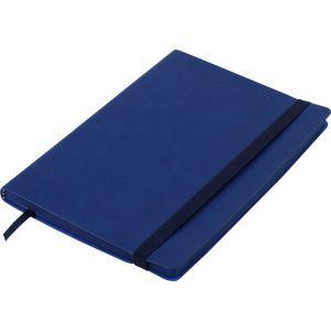 Купить Бизнес-тетради, блокноты, Блокнот деловой BRIEF А5, 96л., чистый, обложка искусственная кожа, синий