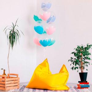 Купить Кресла-мешки для офиса, Бескаркасное прямоугольное кресло-цегелка 100*120 см желтое, Wolf