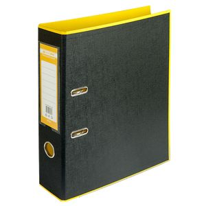 Купить Папки-регистраторы, Регистратор BUROMAX, А4, 70 мм, PP, желтый/черный