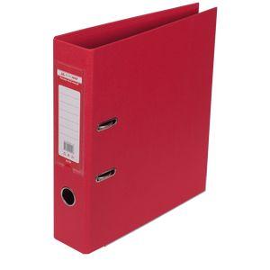 Купить Папки-регистраторы, Регистратор двухсторонний ELITE BUROMAX, А4, ширина торца 70 мм, красный