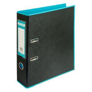 Купить Папки-регистраторы, Регистратор BUROMAX, А4, 70 мм, PP, голубой/черный