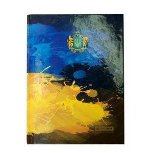 Купить Бизнес-тетради, блокноты, Блокнот UKRAINE, А-5, 96л., клетка, тв. картонная обложка, т.-синий